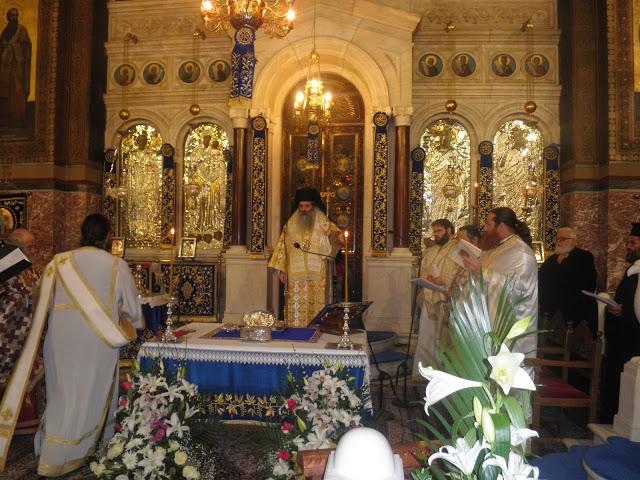 Η Θεία Λειτουργία του Αγίου Γρηγορίου στον Πειραιά