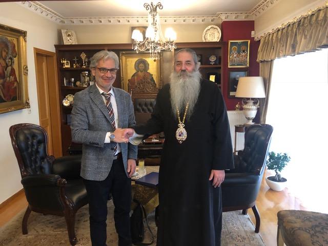 Τον Σεβασμιώτατο Μητροπολίτη Πειραιώς κ.Σεραφείμ επισκέφθηκε ο υποψήφιος Δήμαρχος Πειραιά κ.Νίκος Βλαχάκος