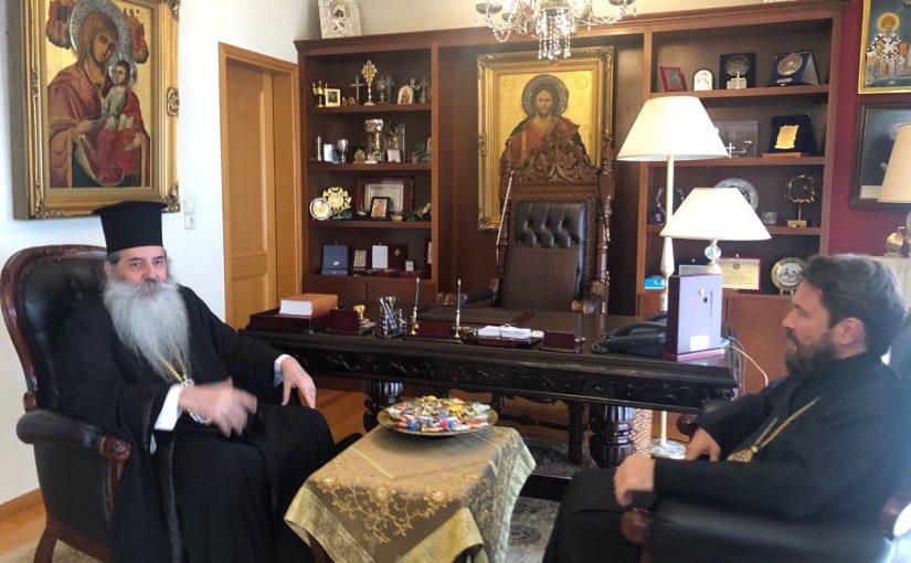 Eπίσκεψη του Μητροπολίτου Βολοκολάμσκ κ. Iλαρίωνος στην I. Μητρόπολη Πειραιώς.