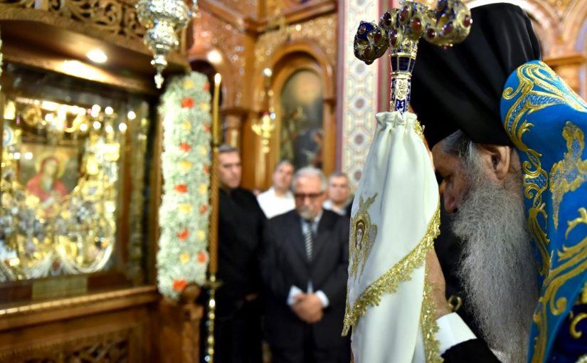 Υποδοχή και Ενθρόνιση της Παναγίας Γαλακτοτροφούσης στον Ιερό Ναό Υπαπαντής του Κυρίου Ταμπουρίων.
