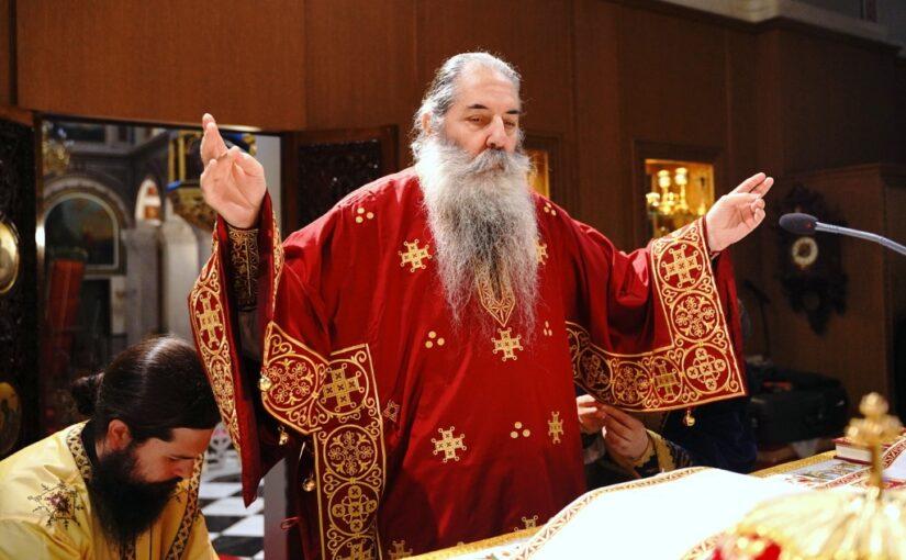 Εορτασμός στη Μητρόπολη Πειραιώς του Θαύματος του Αγίου Σπυρίδωνος κατά των παπικών.